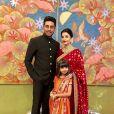 Ashwariya Rai, son mari Abhishek Bachchan et leur fille Aaradhya assistent au mariage d'Isha Ambani et Anand Piramal. Bombay, le 12 décembre 2018.