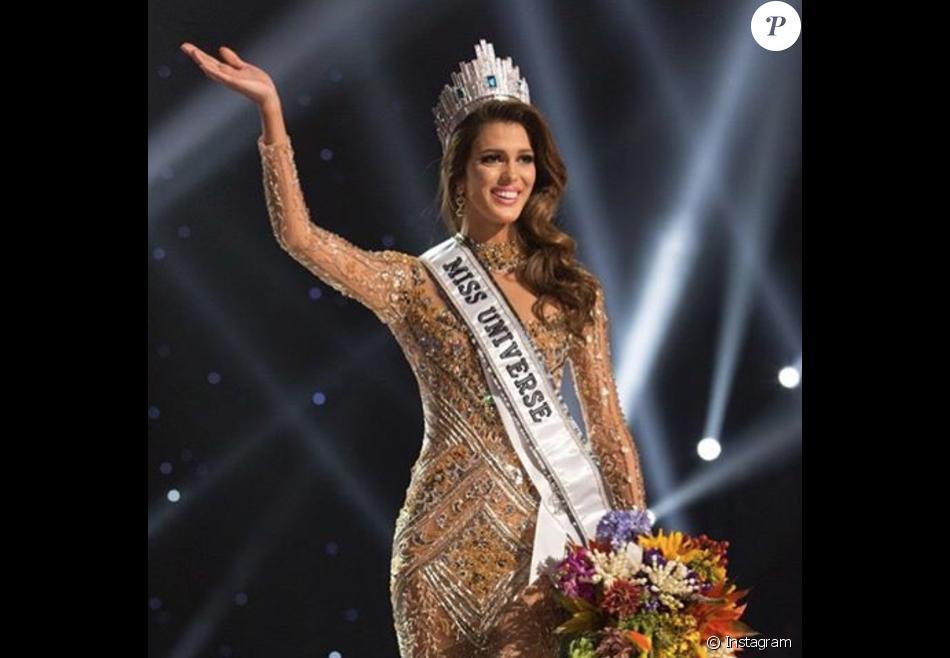 Iris Mittenaere, Miss France 2016, a été couronnée Miss Univers 2016 à Manille le 30 janvier 2017. Photo Instagram.