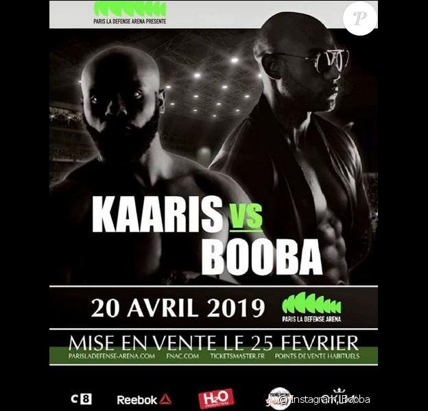 Booba et Kaaris s'affronteront dans un ring octogone, façon UFC, le 20 avril 2019 à la Paris La Défense Arena.