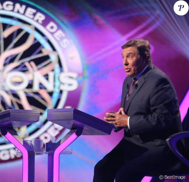 """Exclusif - Jean-Pierre Foucault - Enregistrement à l'occasion des 15 ans de l'émission """"Qui veut gagner des millions ?"""" sur TF1 au studio Carrère A de La Plaine Saint-Denis le 31 aout 2015."""