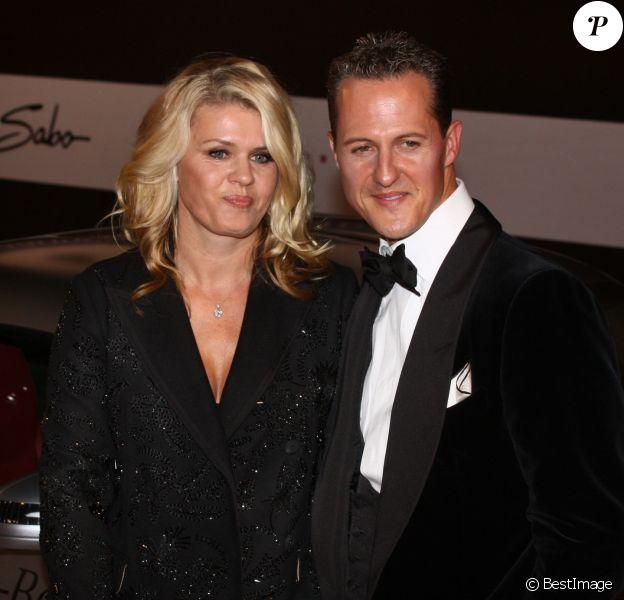 Michael Schumacher et sa femme Corinna lors de la soiree GQ à Berlin en Allemagne le 29 octobre 2013.