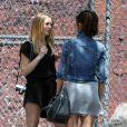 Leighton Meester et Minka Kelly sur le tournage du film The Roommate à Los Angeles