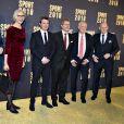 """Le prince Frederik de Danemark lors de la cérémonie de remise des prix """"Danish Sports Awards 2018"""" à Herning le 5 janvier 2019"""
