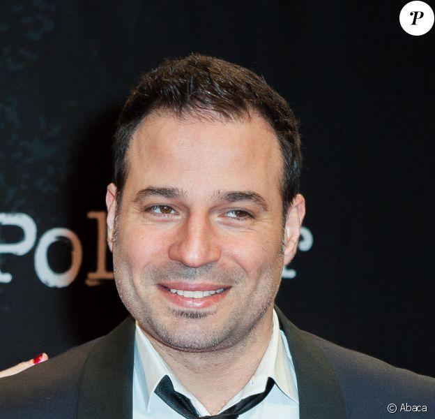 Mario Barravecchia et sa compagne, enceinte, lors de l'ouverture du festival international du film de Beaune le 25 mars 2015