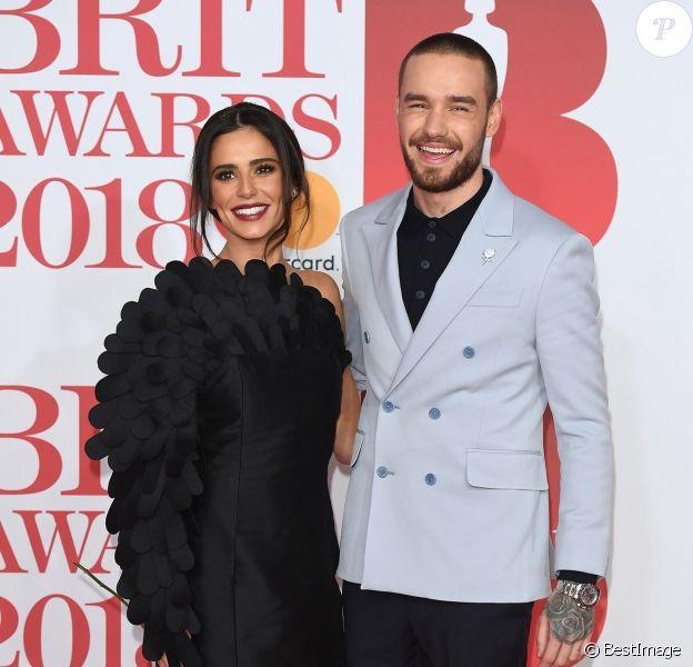 Cheryl Cole et Liam Payne lors de la soirée des 38ème Brit Awards à l'O2 Arena à Londres, Royaume Uni, le 21 février 2018.