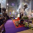 Les obsèques de Jeanne Augier, la propriétaire de l'hôtel Negresco, en l'Eglise Saint-Pierre-d'Arène à Nice le 12 janvier 2019 © Bruno Bebert/Bestimage