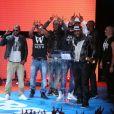 Sexion d'Assaut Prix de la meilleure Chanson et Prix de la meilleure performance live - Ceremonie des Trace Urban Music Awards 2013 à Paris le 14 mai 2013.