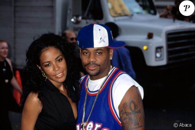 Aaliyah et son dernier petit ami, Damon Dash, en février 2001