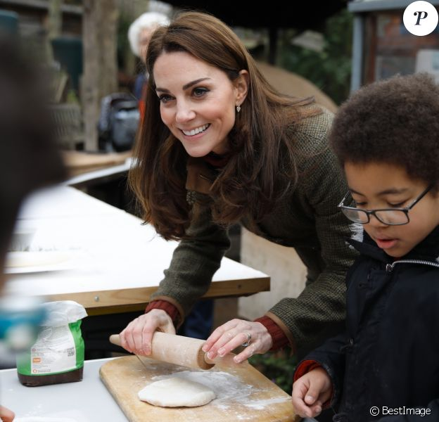 Kate Middleton, duchesse de Cambridge, s'est rendue au King Henry's Walk Garden dans le district d'Islington à Londres, le 15 janvier 2019.