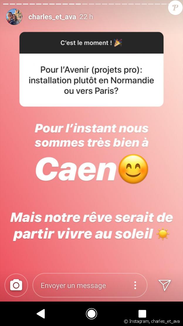 """Session questions/réponses de Charles du """"Meilleur Pâtissier"""" et sa petite amie Ava - Instagram, 16 janvier 2019"""