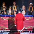 La princesse Stéphanie de Monaco était entourée du prince Albert II et de Louis Ducruet avec sa fiancée Marie lors de la soirée d'ouverture du 43e Festival international du cirque de Monte-Carlo sous le chapiteau de Fontvieille à Monaco le 17 janvier 2019. © Bruno Bebert/Pool Monaco/Bestimage