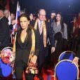 La princesse Stéphanie de Monaco a assisté en compagnie du prince Albert II et de Louis Ducruet avec sa fiancée Marie à la soirée d'ouverture du 43e Festival international du cirque de Monte-Carlo sous le chapiteau de Fontvieille à Monaco le 17 janvier 2019. © Jean-François Ottonello/Nice-Matin/Bestimage