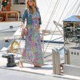 Exclusif - Adriana Karembeu enceinte de 7 mois à Monaco le 1er juin 2018