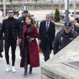 Cristiano Ronaldo se rend au tribunal pour fraude fiscale avec sa compagne Georgina Rodríguez à Madrid en Espagne le 22 janvier 2019.