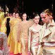 """Défilé de mode Haute-Couture printemps-été 2019 """"Alexis Mabille"""" à Paris. Le 22 janvier 2019"""