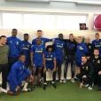 Emiliano Sala lors de l'au revoir à ses coéquipiers du FC Nantes, la dernière image de son compte Instagram avant sa disaprition le 21 janvier 2019