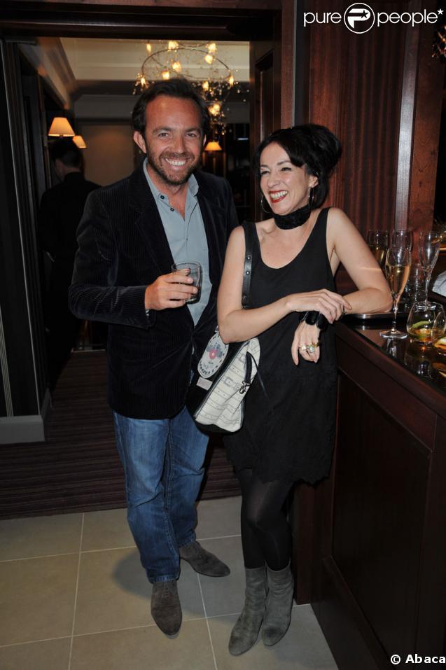 Alexis Trégarot et Béatrice Ardisson lors de la soirée de réouverture de l'Hôtel Mathurin à Paris le 26 mai 2009