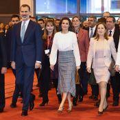 Letizia d'Espagne, à la FITUR comme au palais, marche sur l'eau (avec style)