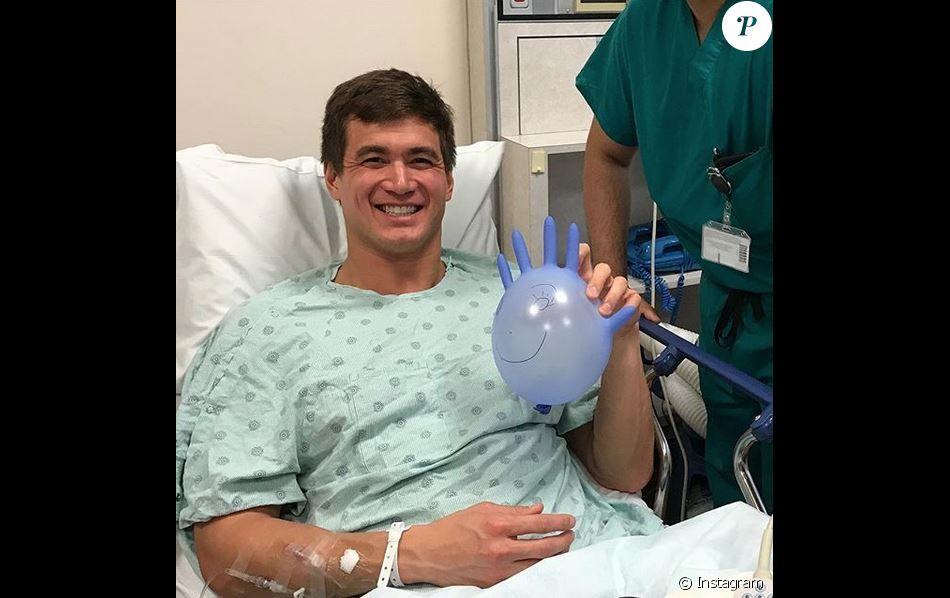 Nathan Adrian à l'hôpital. Janvier 2019.