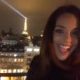 Iris Mittenaere fête ses 26 ans sur les Champs-Elysées, le 25 janvier 2019. Ici Marine Lorphelin.