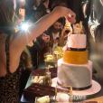 Iris Mittenaere fête ses 26 ans sur les Champs-Elysées, le 25 janvier 2019.