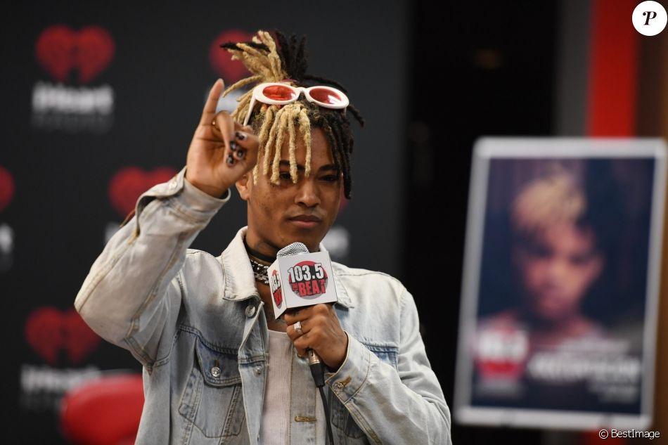 Le rappeur XXXTentacion en interview sur iHeart Radio à Fort Lauderdale, le 26 mai 2017.