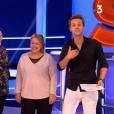 """Cyril Féraud présente ses parents Dominique et Michel à l'antenne de son jeu """"Slam"""" (France 3) lundi 28 janvier 2019."""