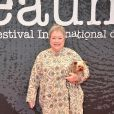 Kathy Bates sur le tapis rouge du Festival International du Film Policier à Beaune le 4 avril 2013.
