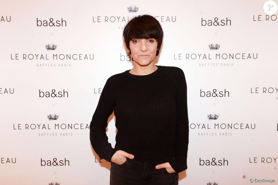 Exclusif - Florence Foresti lors de l'inauguration de la boutique Ba&Sh à l'hôtel Royal Monceau à Paris le 15 mars 2018.