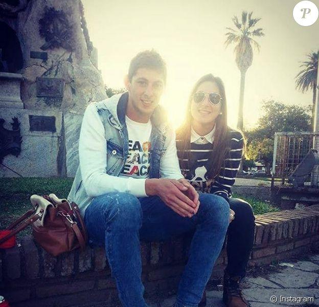 Emiliano Sala et sa soeur Romina, photo publiée sur Instagram par Romina suite à la disparition de son frère le 21 janvier 2019