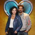 Tomer et Sandra Sisley lors du vernissage de l'exposition de Emmanuelle Rybojad au Fouquet's à Paris le 7 février 2019.