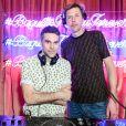 Le duo Groove Armada - Soirée #BaguetteFriendsForever de FENDI au magasin FENDI sur Madison Avenue. New York, le 7 février 2019.