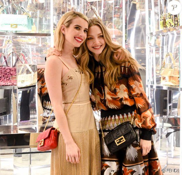 Emma Roberts et Amanda Seyfried - Soirée #BaguetteFriendsForever de FENDI au magasin FENDI sur Madison Avenue. New York, le 7 février 2019.