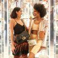 Melissa Martinez, Ebonee Davis - Soirée #BaguetteFriendsForever de FENDI au magasin FENDI sur Madison Avenue. New York, le 7 février 2019.