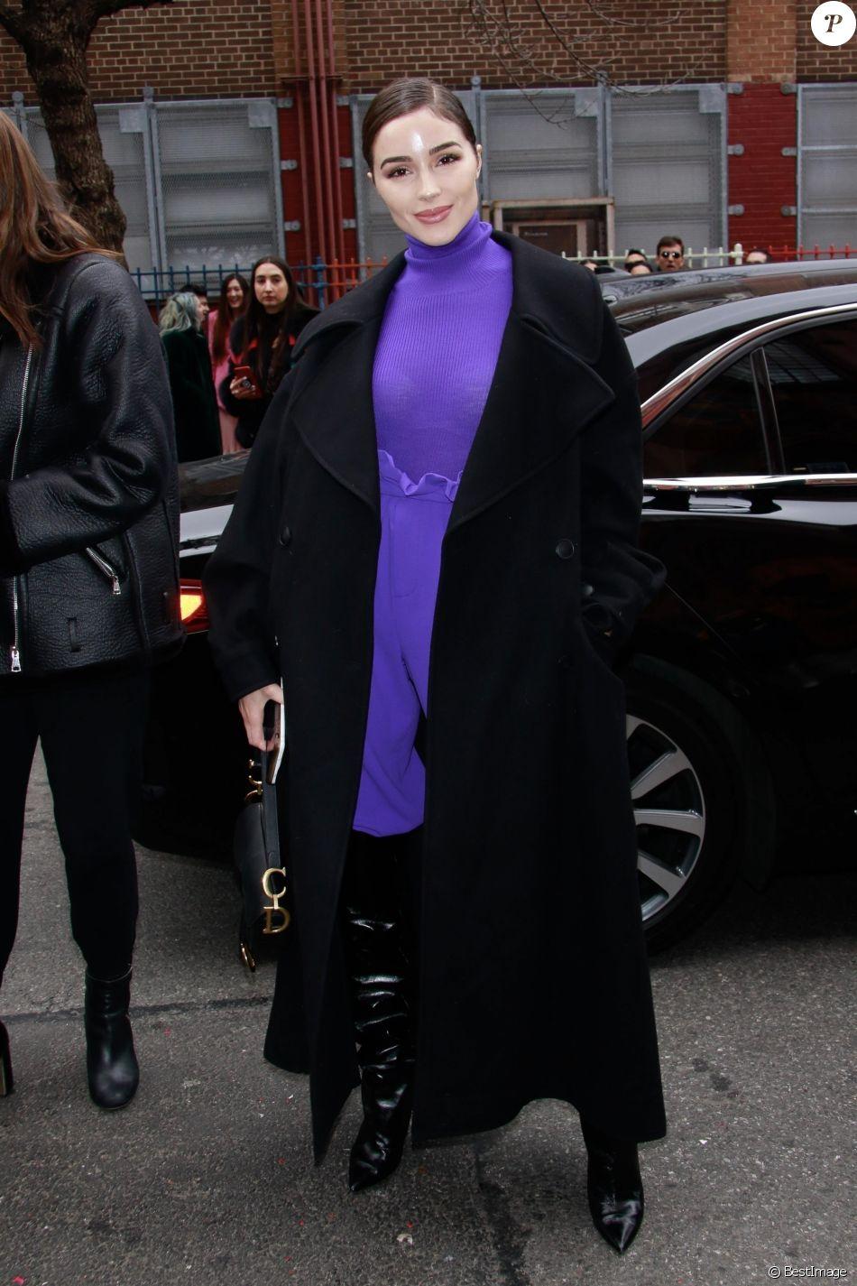 Olivia Culpo - Les célébrités arrivent au défilé de mode Alice & Olivia lors de la Fashion Week à New York, le 11 février 2019