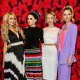 Paris Hilton, Stacy Bendet, Tessa et Nicky Hilton au défilé alice + olivia lors de la Fashion Week automne-hiver 2019/2020 à New York, le 11 février 2019.