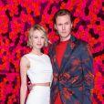 Barron II Hilton et son épouse Tessa Hilton au défilé alice + olivia lors de la Fashion Week automne-hiver 2019/2020 à New York, le 11 février 2019.