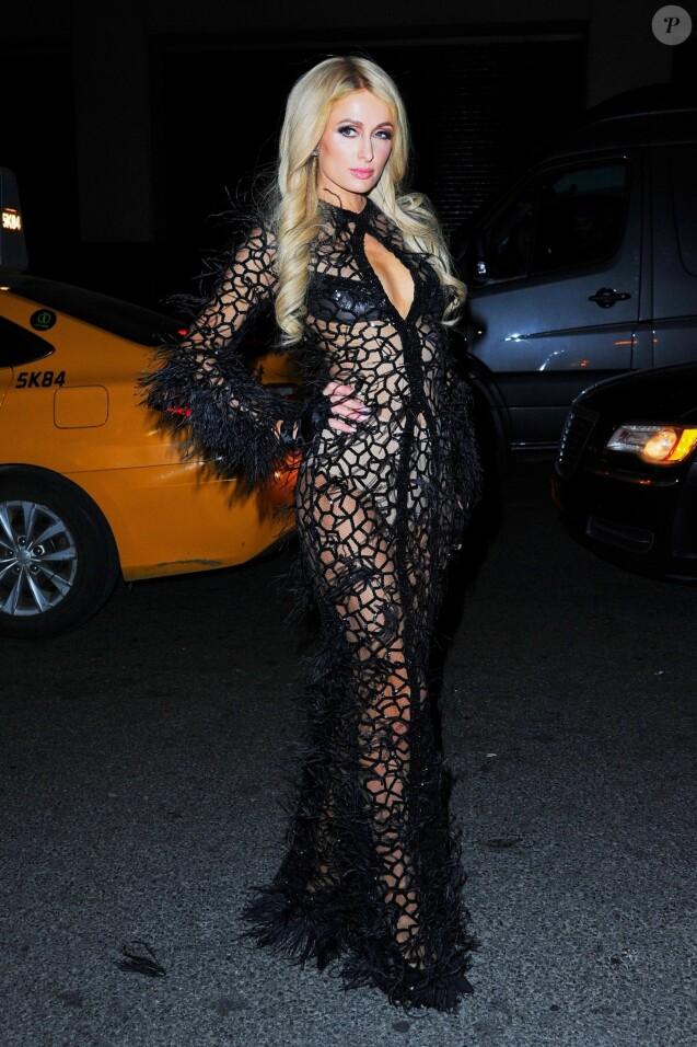 Paris Hilton - Arrivée des people au défilé de mode Philipp Plein lors de la fashion week à New York, le 11 février 2019.