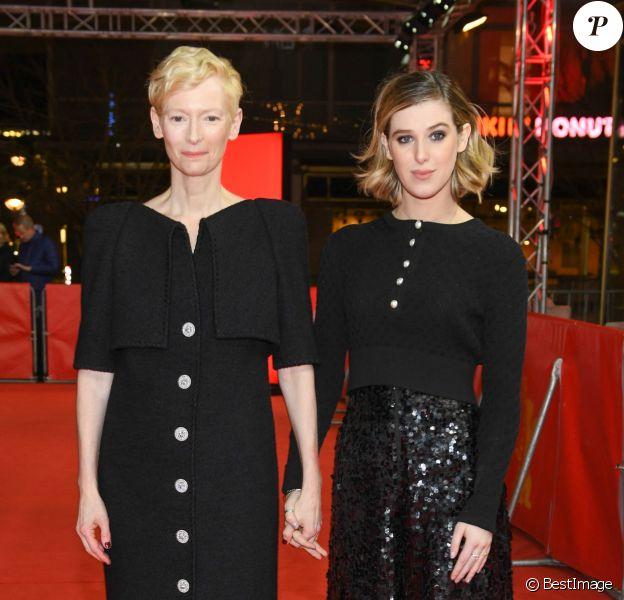 """Tilda Swinton et sa fille Honor Swinton - Byrne - Première du film """"The Souvenir"""" lors du 69ème Festival International du Film de Berlin, La Berlinale le 12 février 2019."""