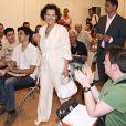 Claudia Cardinale au salon du livre madrilène (Espagne)