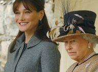 Carla Bruni coiffe la reine Elizabeth II au poteau ! Chapeau !