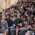"""Karl Lagerfeld et son filleul Hudson Kroenig - Premier défilé de mode """"Chanel Cruise"""" au Grand Palais à Paris. Le 3 mai 2017 © Olivier Borde / Bestimage"""