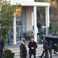Le cercueil - Dernier hommage à Karl Lagerfeld au crématorium du Mont-Valérien à Nanterre le 22 février 2019.
