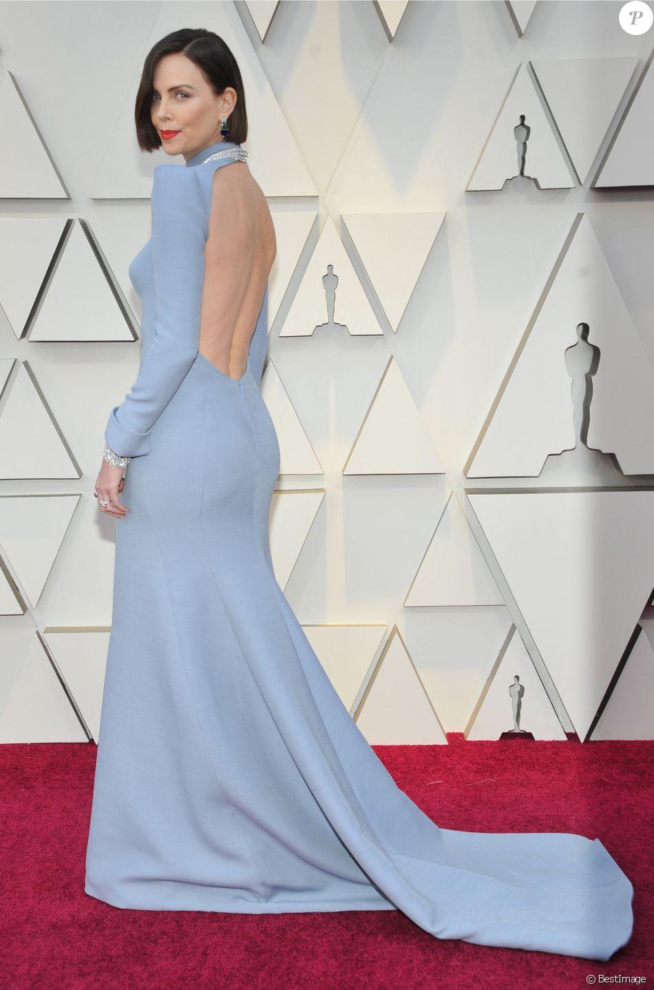 Charlize Theron lors du photocall des arrivées de la 91ème cérémonie des Oscars 2019 au théâtre Dolby à Hollywood, Los Angeles, Californie, Etats-Unis, le 24 février 2019.  Celebs attending the 91st Annual Academy Awards at Dolby theater in Hollywood, Los Angeles, CA, USA, on February 24, 2019.24/02/2019 - Los Angeles