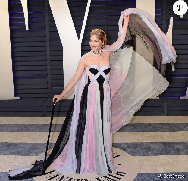 Selma Blair (dans une robe Ralph & Russo) à la soirée Vanity Fair Oscar Party à Los Angeles, le 24 février 2019