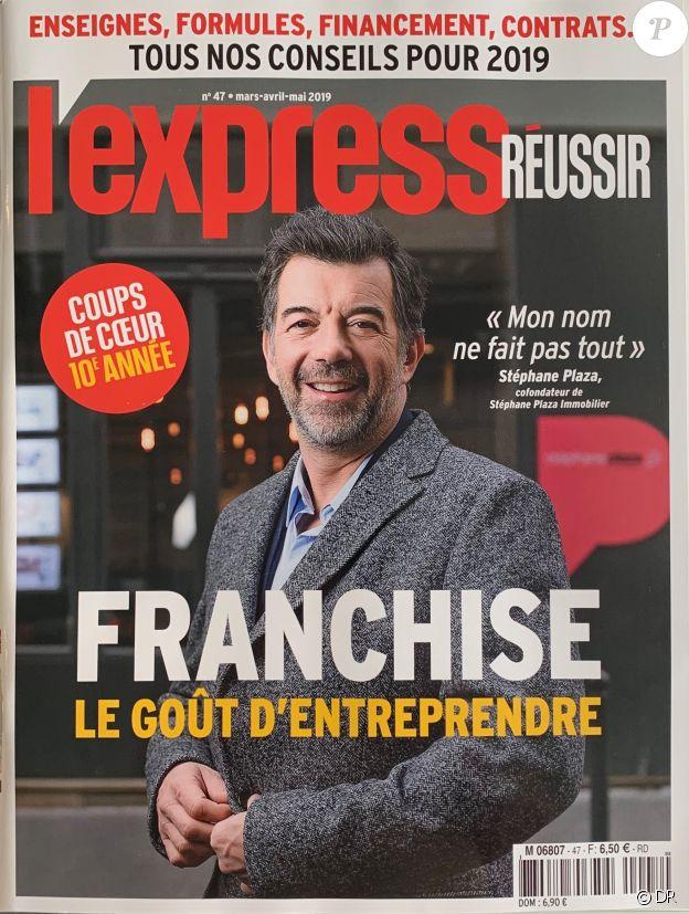 """Stéphane Plaza en couverture de """"L'Express Réussir"""", mars-avril-mai 2019."""