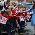 """Kate Catherine Middleton, duchesse de Cambridge, en visite au centre """"Braid Arts"""" à Ballymena lors de son voyage officiel en Irlande. Le 28 février 2019"""