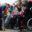 """Le prince William, duc de Cambridge, en visite au centre """"Braid Arts"""" à Ballymena lors de son voyage officiel en Irlande. Le 28 février 2019"""