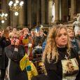 Messe en hommage à Johnny Hallyday à l'église de la Madeleine. Un moment très émouvant pour les fans venus en masse ce 9 décembre 2018. © Cyril Moreau/Pierre Perusseau/Bestimage