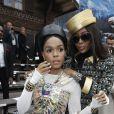 """Janelle Monáe et Naomi Campbell - People au défilé de mode Prêt-à-Porter automne-hiver 2019/2020 """"Chanel"""" à Paris. Le 5 mars 2019 © Olivier Borde / Bestimage"""